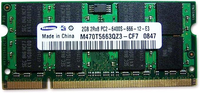 Samsung 2GB DDR2 RAM PC2-6400 200-Pin Laptop SODIMM