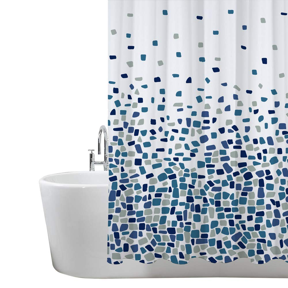 ANSIO Shower Curtain Mould and Mildew Resistant Solid White, 180 x 180 cm (71 x 71 Inch) | 100% Polyester ANSIO 3001