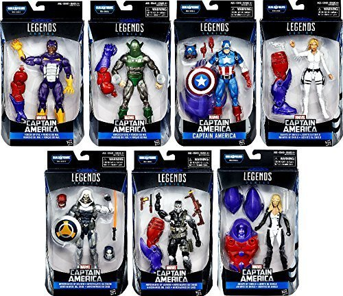 Marvel Captain America Civil War Legends Red Skull Series Set of 7 Action Figures