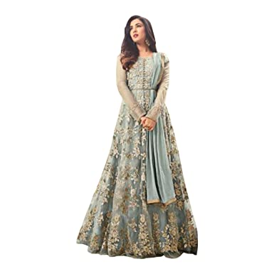 adfa702ee0 Amazon.com: Bollywood Wedding Ceremony Long Anarkali Salwar Suit Muslim Bridal  Gown Dress Ethnic 765: Clothing