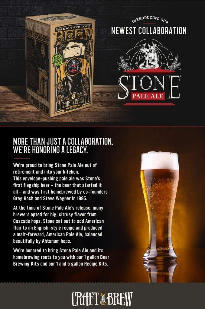 Craft A Brew Stone Pale Ale Beer Brewing Kit