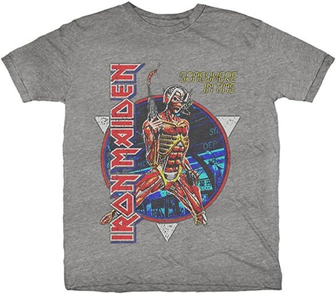 Iron Maiden Somewhere In Time (Gris) Camiseta