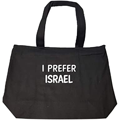 2ef9e61e2c Amazon.com: I Prefer Israel Name Cool Gift - Tote Bag With Zip: Clothing