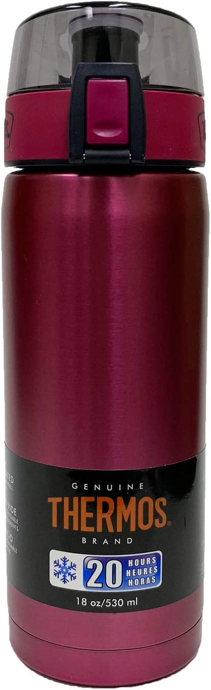 Thermos 18-Ounce Stainless Steel Vacuum Insulated Hydration Bottle (Aubergine)