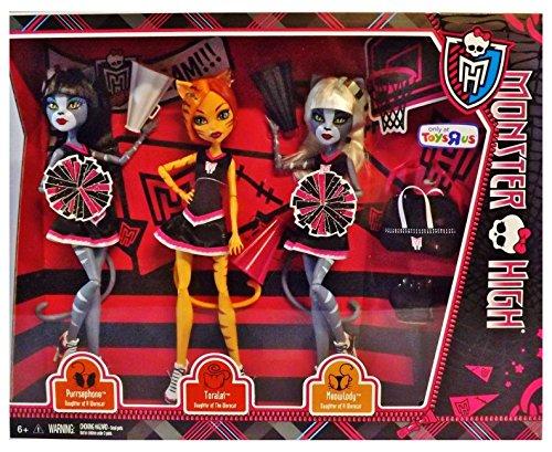 Unbranded Monster High Fear Squad 3 Doll Set Cheerleaders FEARLEADING Toralei Werecat Twin ♥ Top Selling Item