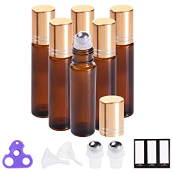 Amazon.com: Botellas de aceite esencial de 10 ml (botella de ...