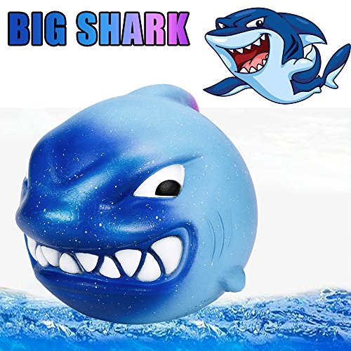 WFFO Slow Rising Squishy Toy, Hot Galaxy Shark Stress Reliever Scented Slow Rising Kids Toy Squeeze Toys for Kids Party Toys Stress Reliever Toy (E) -
