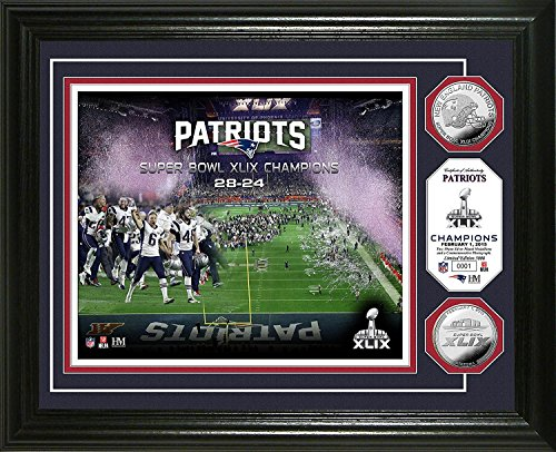 The Highland Mint NFL New England Patriots Super Bowl XLIX Champions Photo Minted Coin, 13