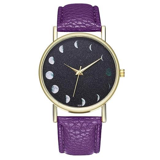 VEHOME Cuero clásico - Ms. Reloj de cuarzo-T59-A-Relojes Inteligentes relojero Reloj reloje de Pulsera Marcas Deportivos: Amazon.es: Relojes