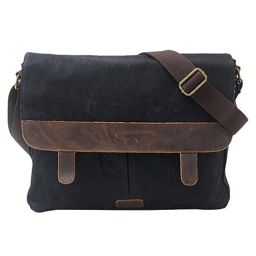 03445eae094a Zhuhaitf Canvas Leather Oil Wax Bags Shoulder Bag Waterproof ...