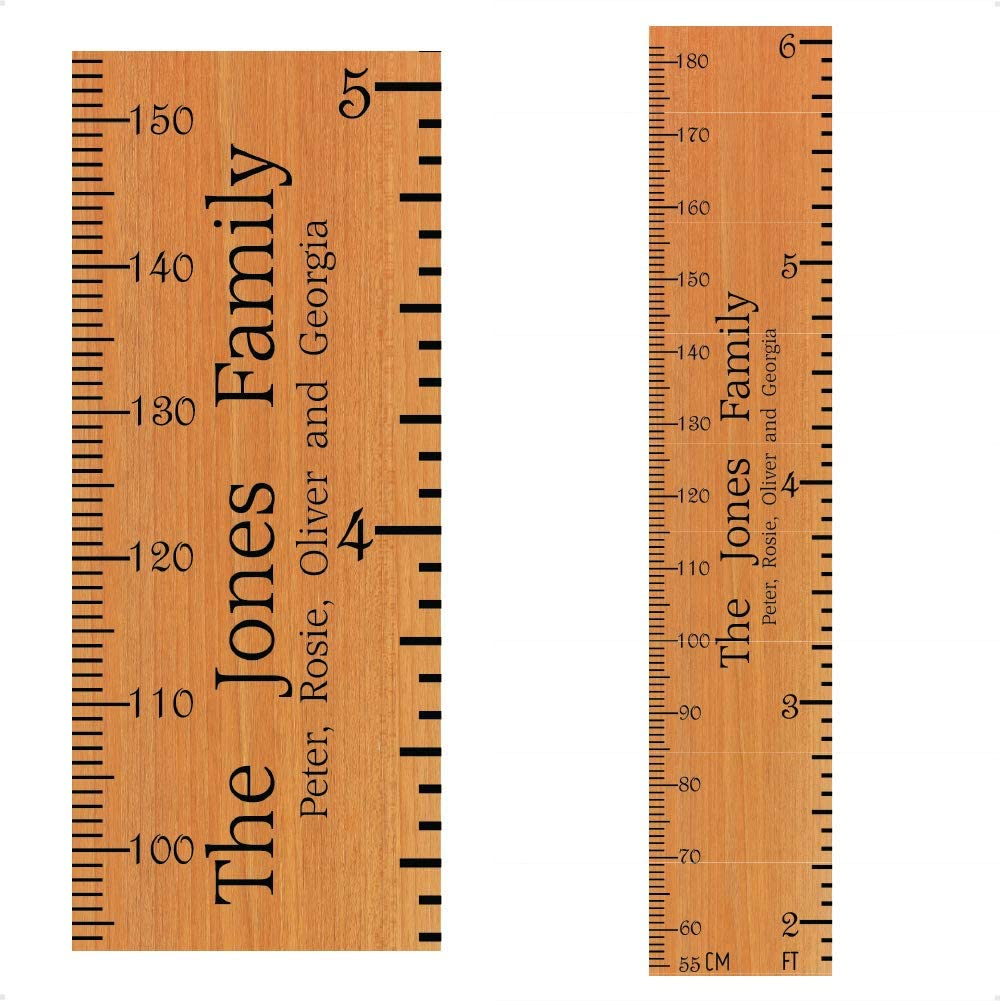Ruler Design Height Measure Wall Sticker for Kids Room Decor Growth Chart Poster