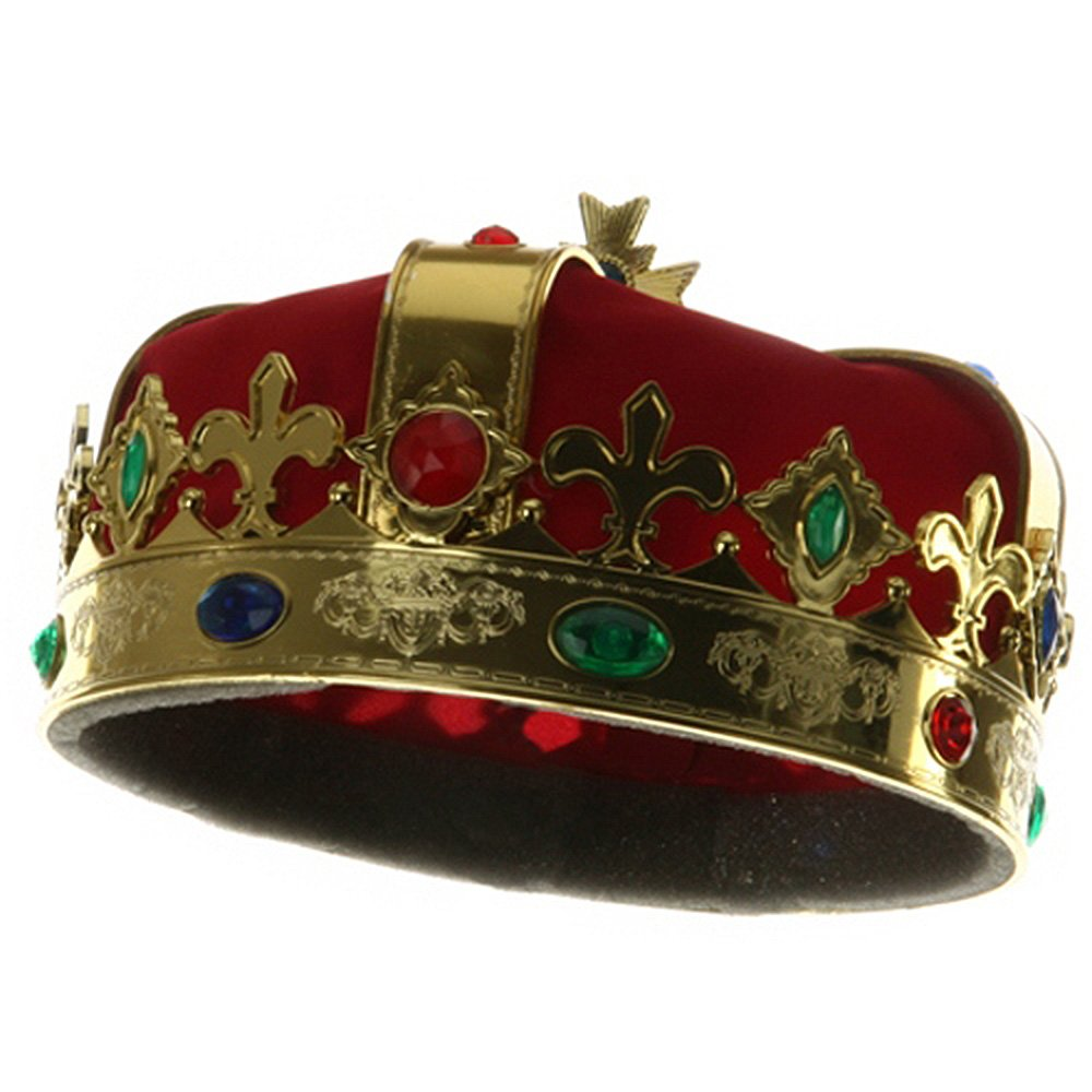 Jacobson Hat Company King's Crown - Red Costume Hat for Royal King Prince kc001cu-red-osfm