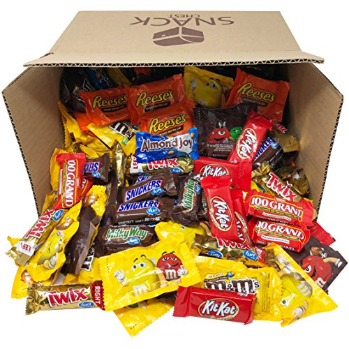 Chocolate Candy Assortment Mix (90oz) Includes HERSHEY'S, Nestle, M&M's and More Bulk - Treat Citrus Sticks