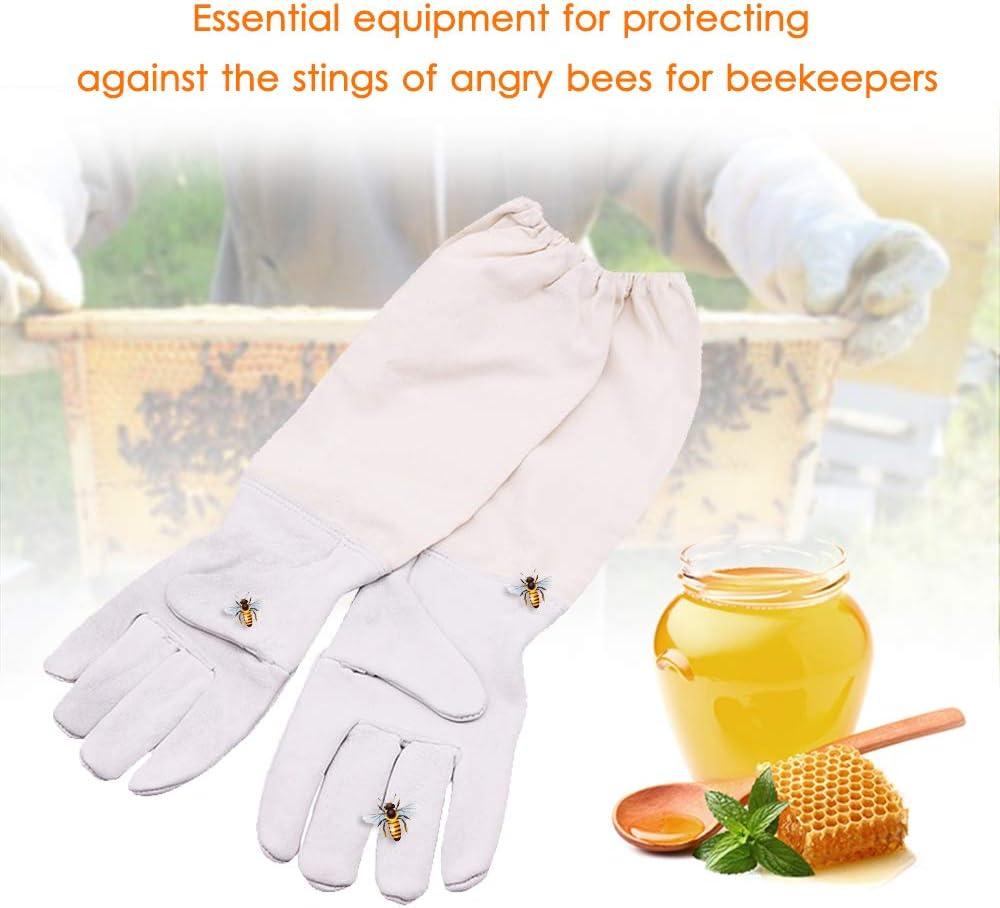 Imkerei Schutzhandschuhe Schaffellhandschuhe Anti-Bienen Schutzhandschuhe KKmoon Imkerhandschuhe Schutzhandschuhe Bienenzucht Bienenhaltung mit Bel/üftete langen /Ärmeln