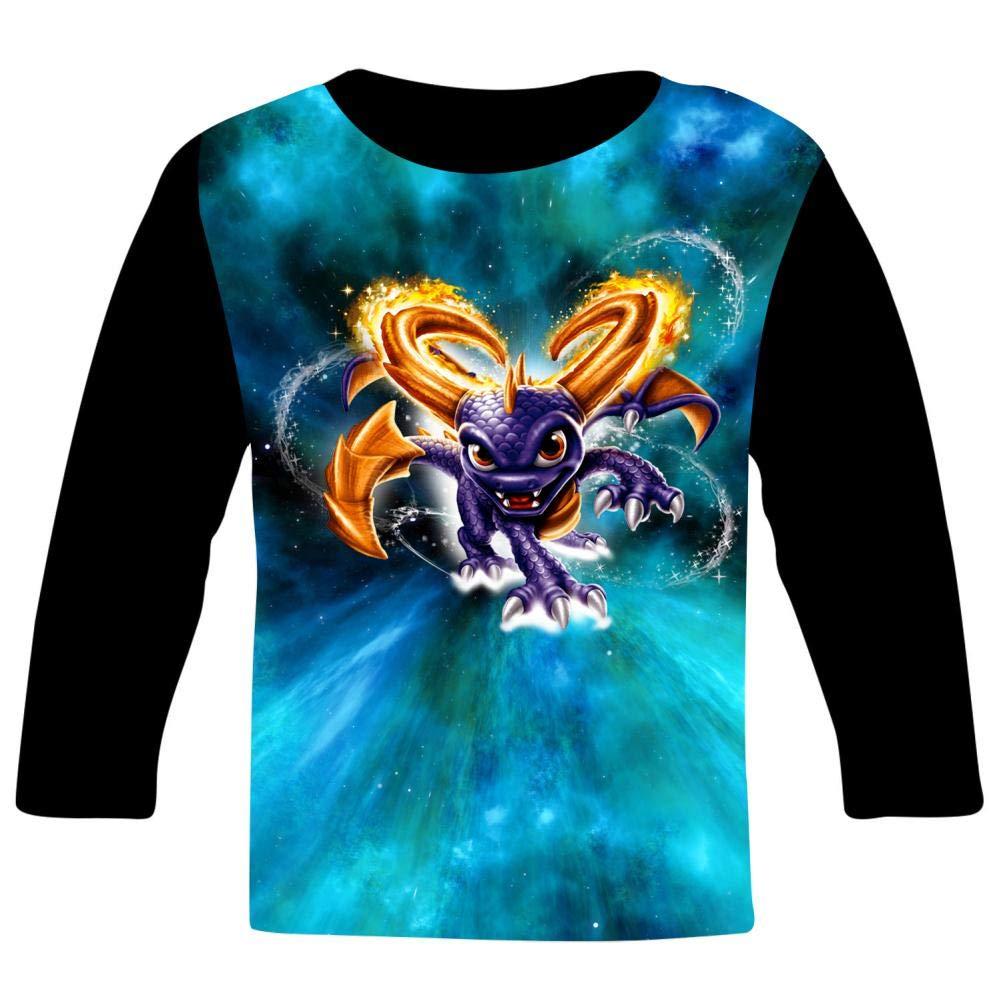 Magic SP-yro The Dragon Kids T-Shirts Long Sleeve Tees Fashion Tops for Boys//Girls