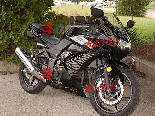 Moto Onfire フェアリング完全なオートバイ車体 キット 対応車種 カワサキ Kawasaki EX250R Ninja 250 EX-250R ZX250 2008 2009 2010 2011 2012 プラスチックABS射出成型 アフターマーケット車体フレーム 外装パーツセット   B01C8OFFAK