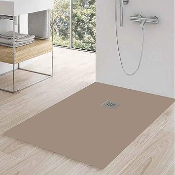 Zenon - Plato de ducha rectangular modelo Slate 80 x 100 en gel ...