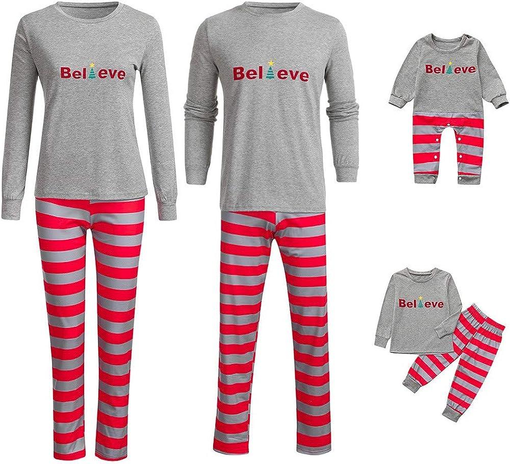 Vincent Christmas Pajamas for Family Long Sleeve Matching Set Top+Pants Reindeer Merry Christmas