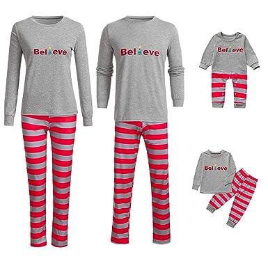 Baby Boys Striped Tops Pants Family Pajamas Sleepwear Matching Christmas  Sets f3d49f499