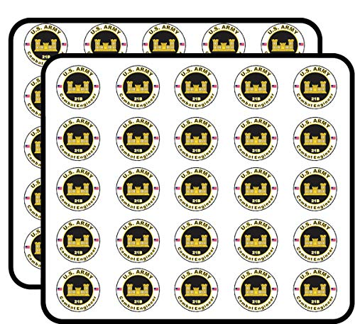 U.S. Army MOS 21B Combat Engineer 50 Pack Sticker for Scrapbooking, Calendars, Arts, Album, Bullet Journals and More 1