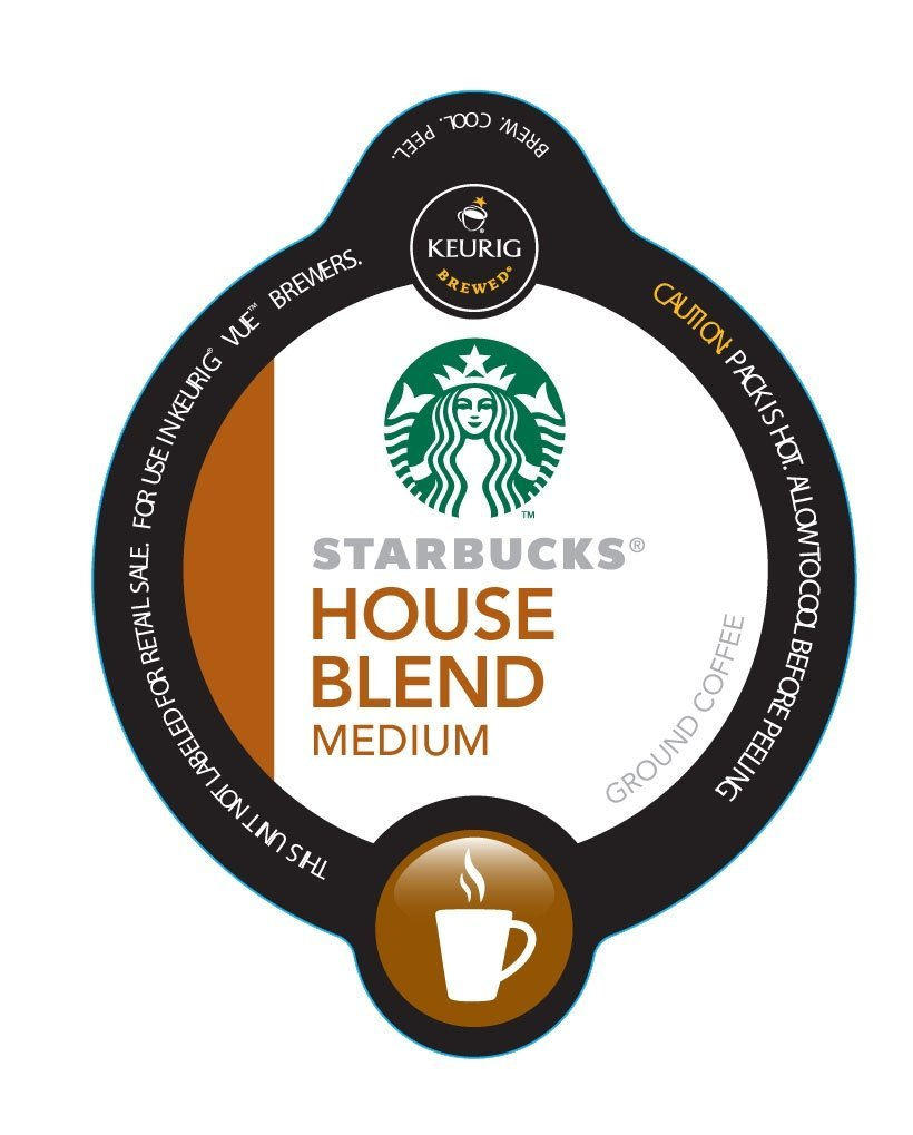 48 Count, Starbucks House Blend for VUE Brewers (3 - 16 ct VUE Packs)