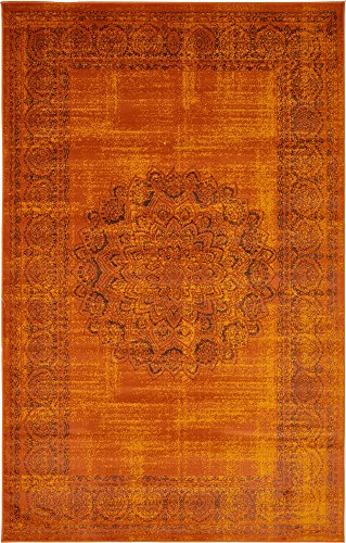 Unique Loom Imperial Collection Modern Traditional Vintage Distressed Terracotta Area Rug (5' 0 x 8' 0)