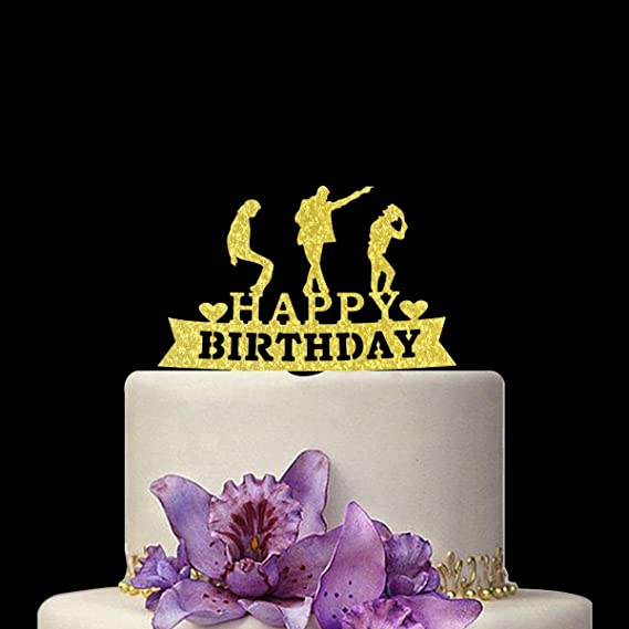 Image Unavailable Not Available For Colour Happy Birthday Cake Topper Michael Jackson