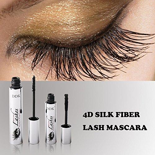 4D Silk Fiber Eyelash Mascara, Waterproof Mascara Cream,Washable Eyelash Extension, Black Eyelash, Long Lasting for Crazy Long Style -