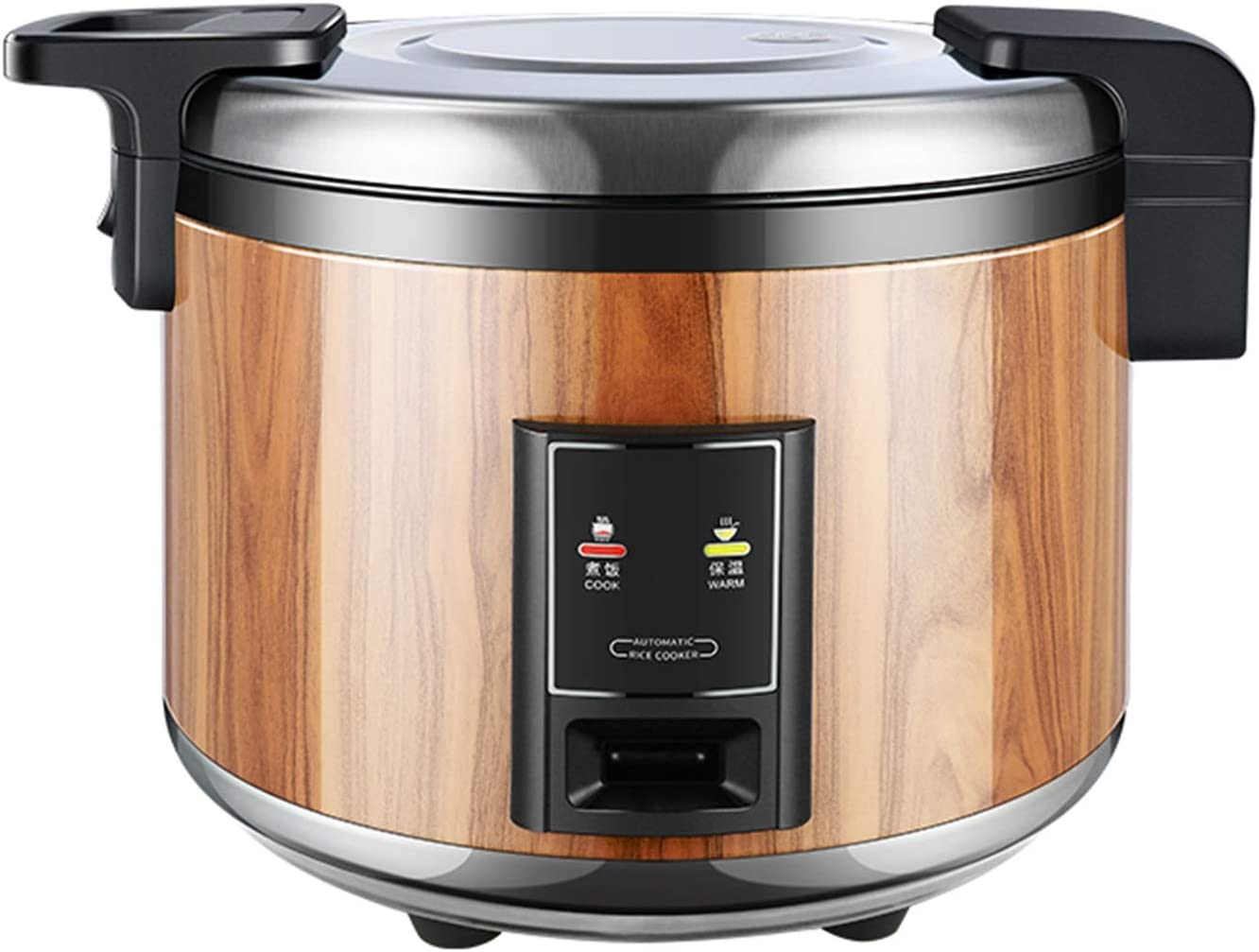 Commercial High-capacity Rice Cooker, 10-15-20-50 People Large Canteen Restaurant Electric Rice Cooker Home Kitchen Cooking Pressure Cooker (Color : Wood grain color, Size : 23L)