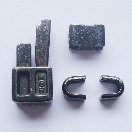 2 Sets pistola Metal # 8 caja de cremallera cabeza de metal pin de inserción de cremallera deslizadores para fácil con cremallera para reparación, kit de reparación de cremallera (# 8): Amazon.es: Hogar