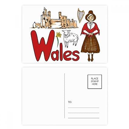 DIYthinker Patrón Gales del famoso nacional Símbolo Gracias ...