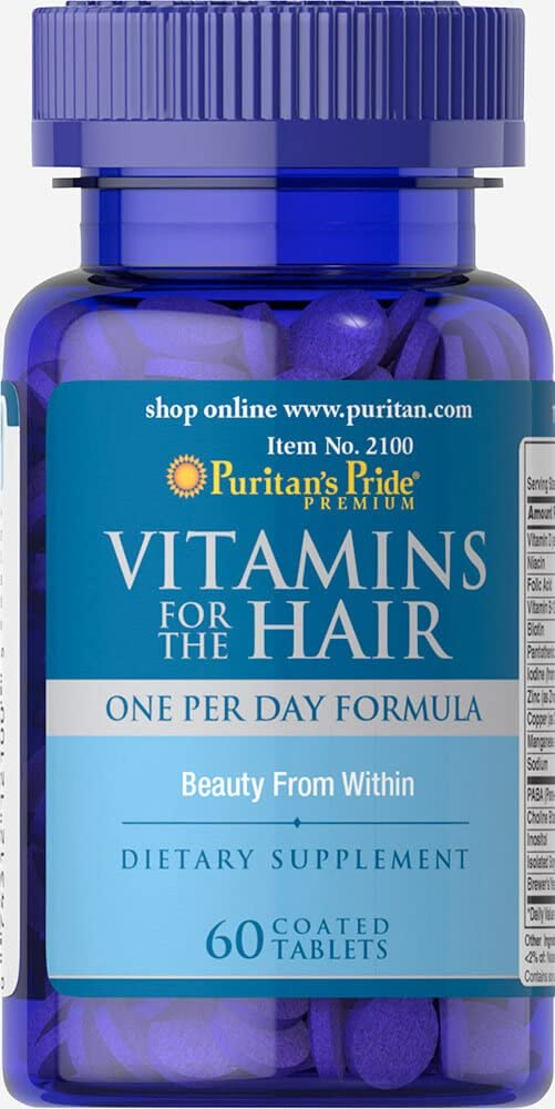 Vitamins for the Hair 60 Tablets. Puritan's Pride … . 1 und.: Amazon.co.uk:  Health & Personal Care