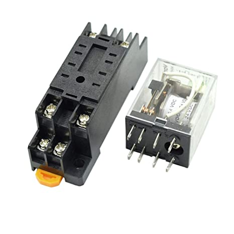 BokWin DC 24V 8 Pins Coil DPDT Electromagnetic Power Relay ... on