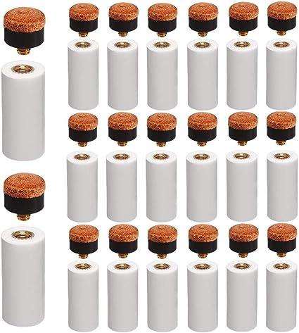 casquillos puntas de rosca con tacos de billar Puntas de tacos de billar de 12 mm de repuesto puntas de taco de billar marr/ón duro paquete de 10