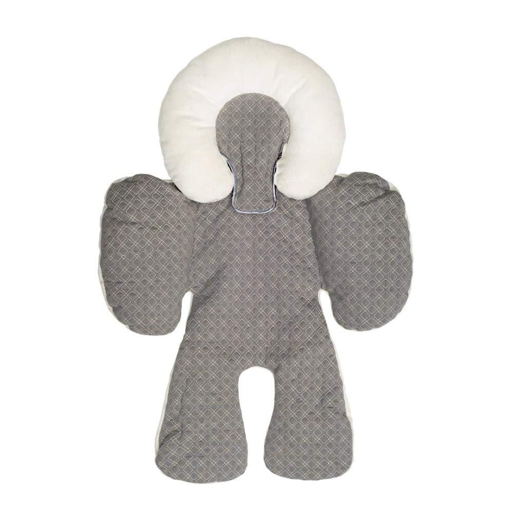 Waroomss Doublure de poussette, Coussin de protection du corps de la tête double face, Coussin de protection/siège de voiture pour poussette pour bébé