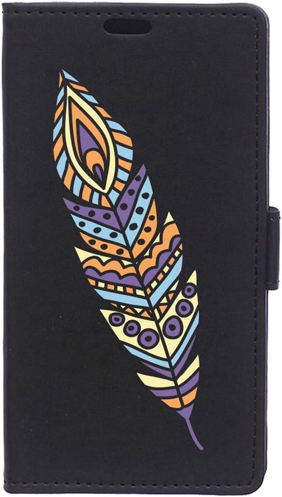 BeCool Funda Libro para Motorola Moto E4 Plus- Carcasa con función Soporte, Ranuras para tarjetes y Billetes, Diseño Pluma Colorida: Amazon.es: Electrónica