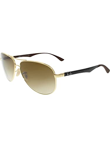 fec9f2cb039 Image Unavailable. Image not available for. Color  Ray-Ban Men s Aviator  RB8313-001 51-61 Gold Aviator Sunglasses