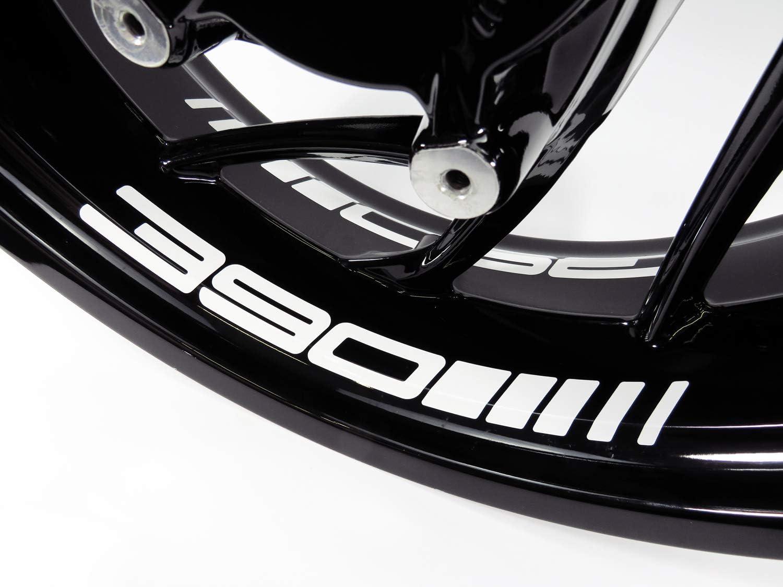 Bike Label 790073 Felgenbett-Aufkleber 4er Set passend f/ür KTM 390 Duke