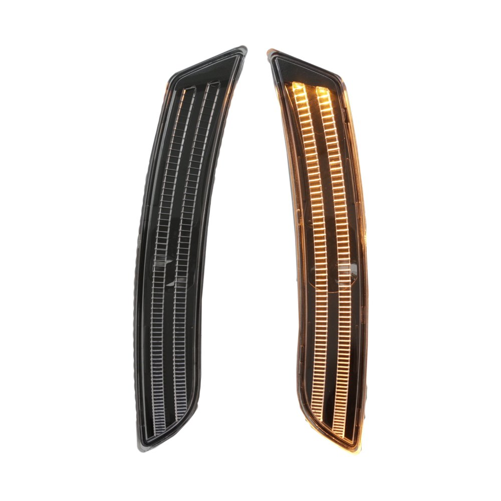 TopPick 23169181-23169182-CTS Bumper Reflector Lights FOR Cadillac CTS 2014-2019 Clear//Black