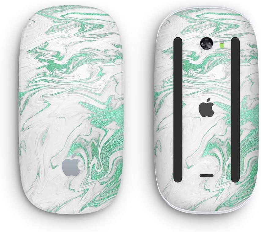 Mint Marble /& Digital Gold Foil V8 Design Skinz Premium Vinyl Decal for The Apple Magic Mouse 2 Wireless, Rechargable with Multi-Touch Surface