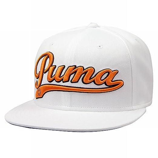 3593820ec35c5 Amazon.com  PUMA Logo Script Cool Cell Snapback Cap - WHITE  Sports ...
