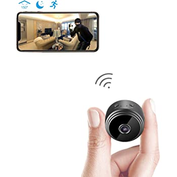 Spy Camera Wireless Hidden WiFi Camera AREBI HD 1080P Mini Camera Portable Home Security Cameras Covert Nanny Cam Indoor Video Recorder Small Camcorder with ...
