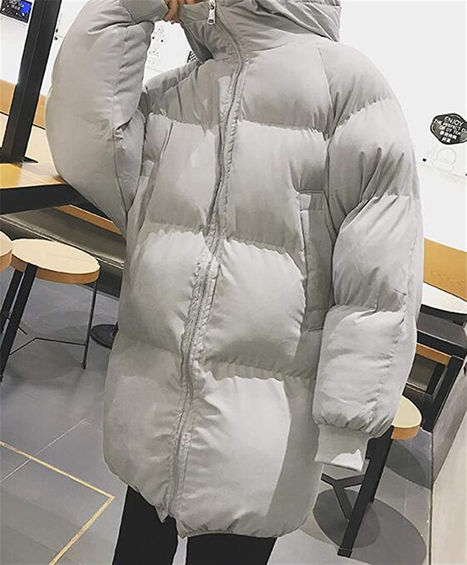 XiaoTianXinMen XTX Men Overcoat Cotton-Padded Quilted Hooded Bread Service Parkas Coat