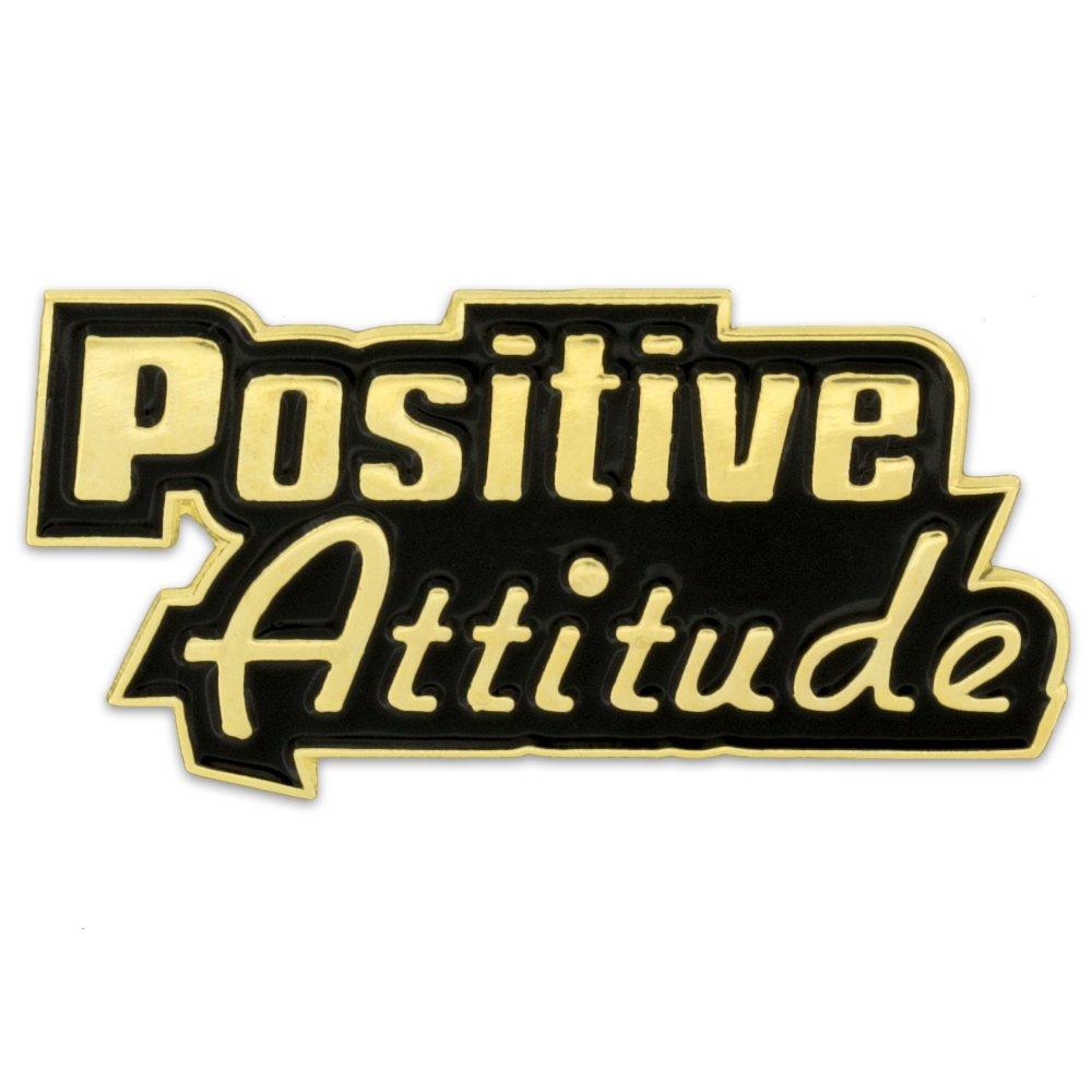 PinMart's Positive Attitude Customer Service Motivation Enamel Lapel Pin
