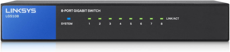 LNKLGS108 Linksys 8 Port Desktop Gigabit Switch