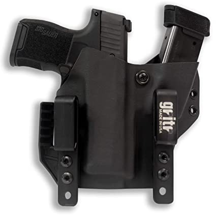 Gritr Holsters with Magazine Holder for Sig Sauer P365 - Made in USA,  KYDEX, Inside The Waistband - IWB Holster