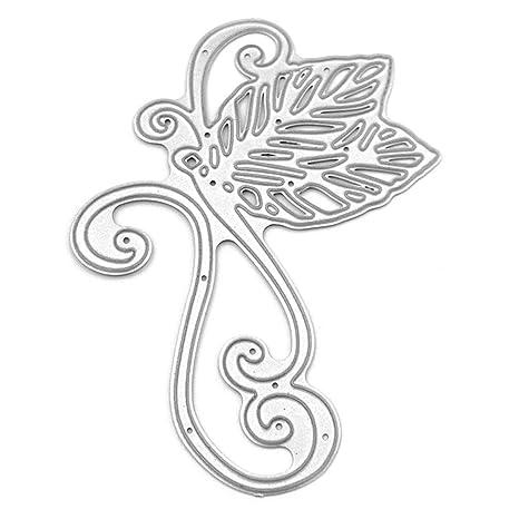 Qiman - Hojas de mariposa, metal, plantilla de corte, DIY ...