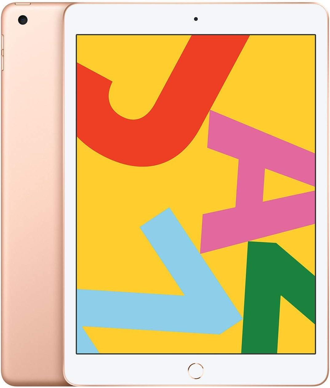 Apple iPad Late 2019, 10.2-Inch, Wi-Fi, 32GB Gold (Renewed)