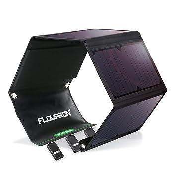 FLOUREON Cargador Solar Portátil 28 W con 4 Paneles solares ...
