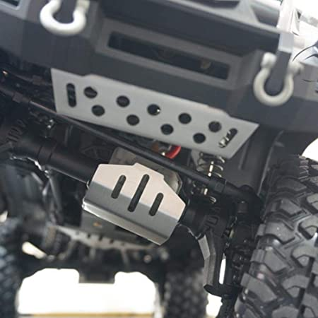 V GEBY 5 Piezas RC Chassis Armor, RC Car Chassis Protection Skid Plate Armor Protection Plate Protector Accesorio Compatible para Traxxas 82056-4 RC ...